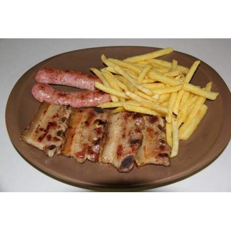 Churrasco de Cerdo-Chorizo Criollo- Patatas Fritas